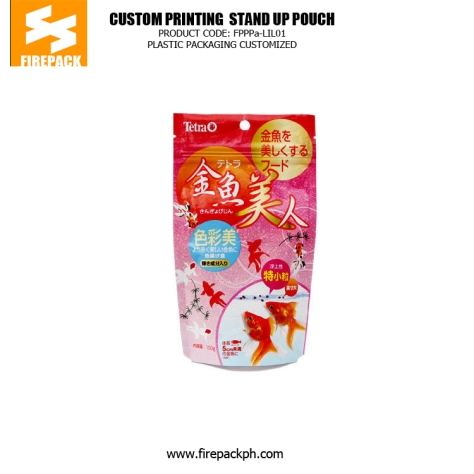 Eco-Friendly Zipper Stand Up Pet Food Bags , Gravure Printing thailand supplier india