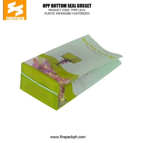 Factory Mechanized Production Plastic Bag with Square Bottom OPP Plastic Bag supplier