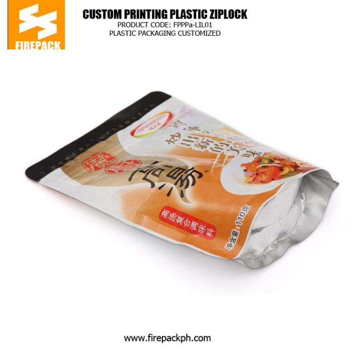Fast Food Plastic Ziplock Bags , Food Grade Standing Pouch firepack india