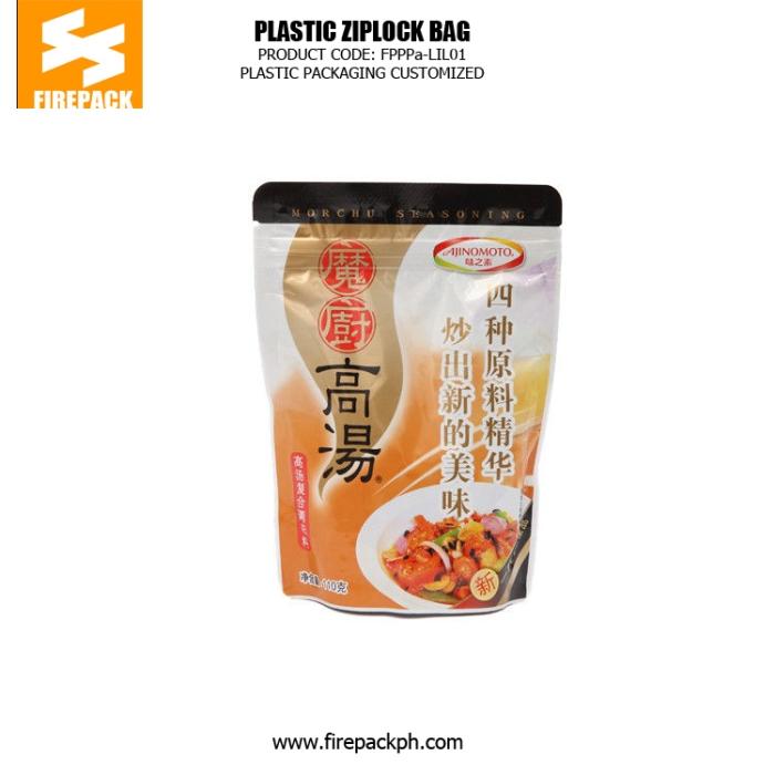 Fast Food Plastic Ziplock Bags , Food Grade Standing Pouch firepack packaging