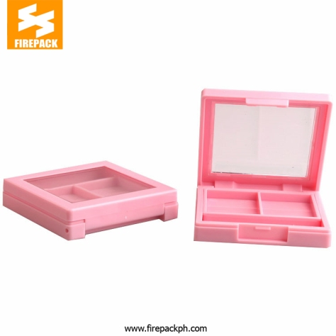 FD2319-4Y016 (7) pink color make up container 2 divison