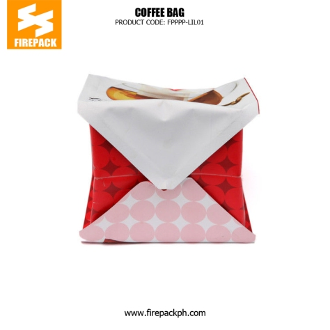 Flat Bottom Stand Up Red Coffee Packaging Bags With Tear Notch usa