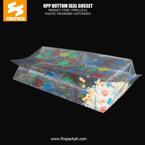 Food OPP Packaging Bags , BOPP Clear Bottom Bags For Biscuits - firepack australia