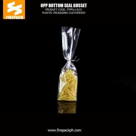 Gravure printing Header OPP Packaging Bags clear poly bag with self adhesive seal bahrain firepack