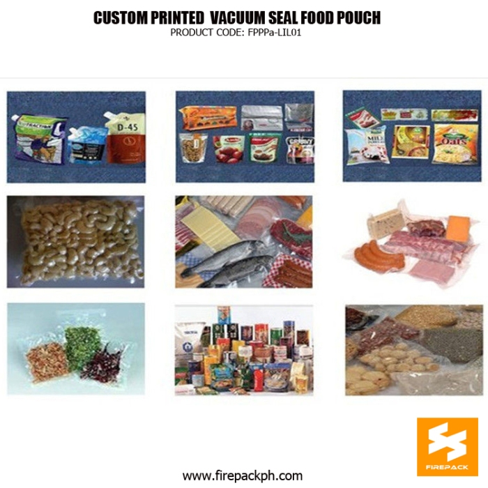 High Barrier Vacuum Seal Food Bags , Custom Printing Frozen food Vacuum Packaging Bags manilla suppleir