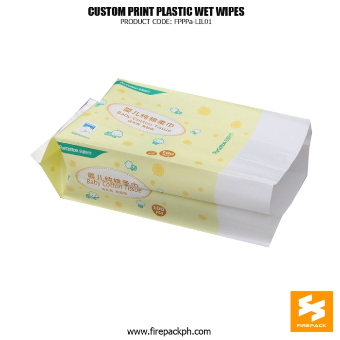 Hot Sale Custom Design Recyclable Wet Wipes Packaging Bag , PET - PE supplier manila