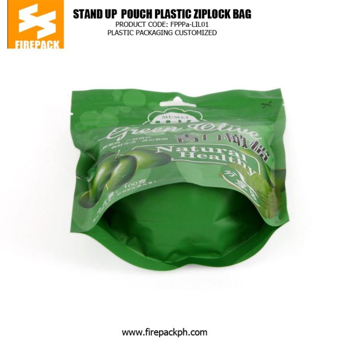 Instant Olives Plastic Ziplock Bags firepack packaging supplier
