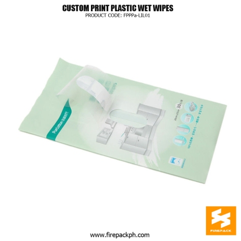 Kitchen Wet Wipes Packaging Heat Seal With Gravure Printing supplier firepack