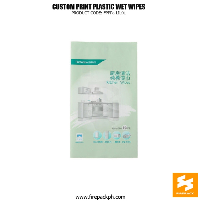 Kitchen Wet Wipes Packaging Heat Seal With Gravure Printing supplier