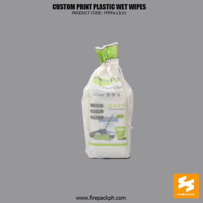 Laminated Custom Printed Plastic Wet Wipes Packaging Bags For Promotion manila supplier