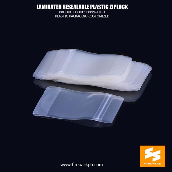 Laminated Material Resealed Plastic Bag With Zipper , Coffee Bean Packaging firepack manila