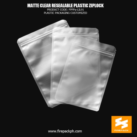 Matte Clear Resealable Plastic Ziplock Bags Pouch For Food Packaging firepack malaysia