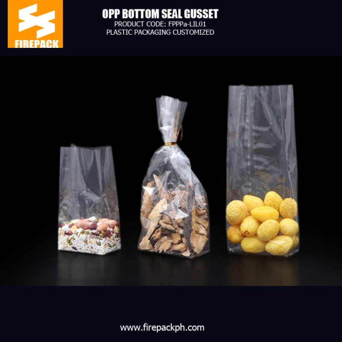 Mini Flat OPP Packaging Bags In Silver , Heat Sealing OPP Square Bottom Bags bahrain plastic