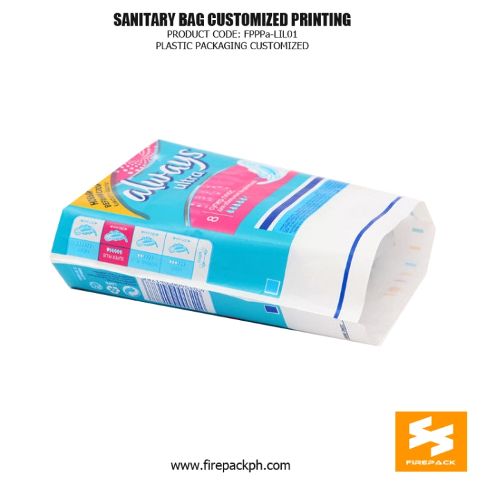 Moisture Proof Sanitary Napkin Bags , PETAL Gravure Printing japan supplier cebu