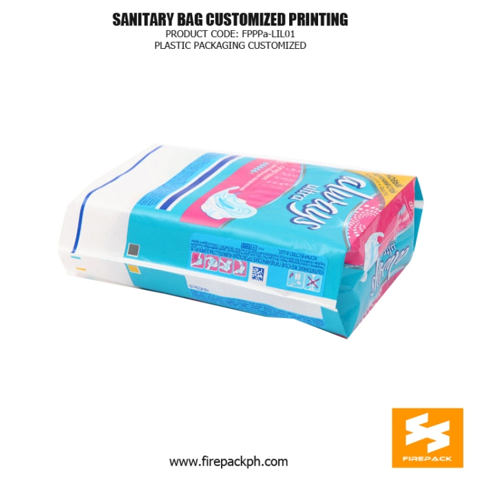 Moisture Proof Sanitary Napkin Bags , PETAL Gravure Printing japan supplier