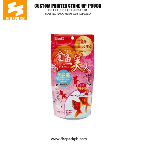 Moisture Proof Stand Up Printed Pet Food Bags With Zipper Lock plastic supplier japan