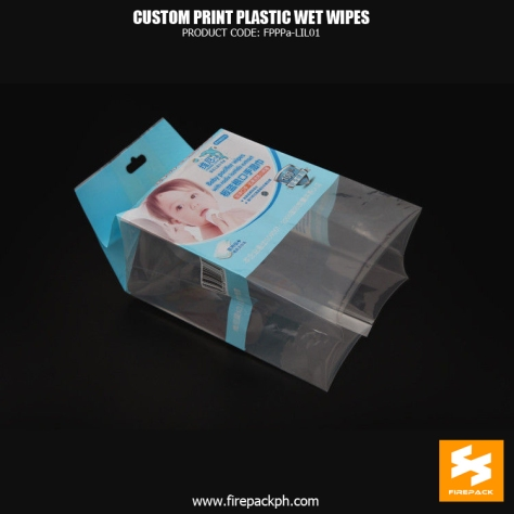 Moisture Proof Wet Wipes Packaging , Heat Seal Gusset Bag firpeack