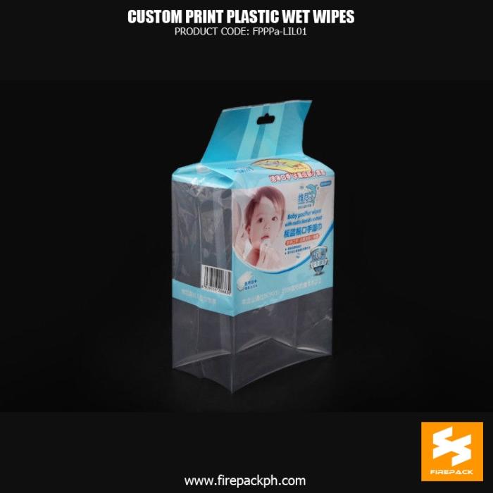 Moisture Proof Wet Wipes Packaging , Heat Seal Gusset Bag manila supplier