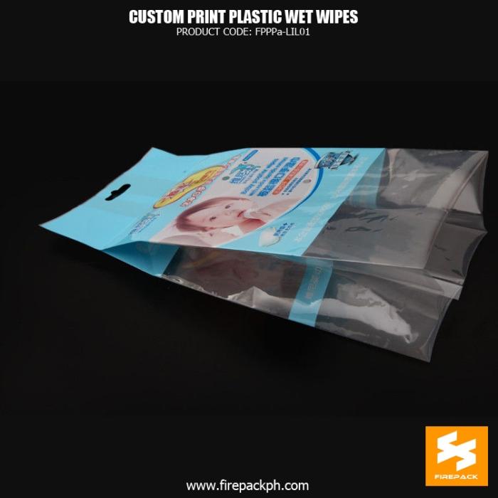 Moisture Proof Wet Wipes Packaging , Heat Seal Gusset Bag supplier firepack