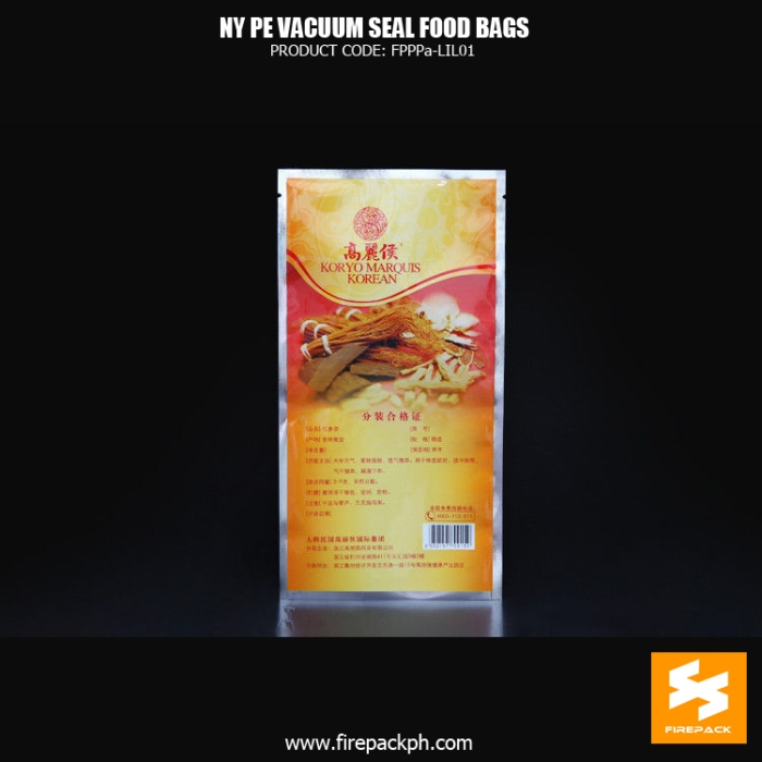 NY1PE material composite clear vacuum seal food storage bags Custom snack use supplier manila cebu