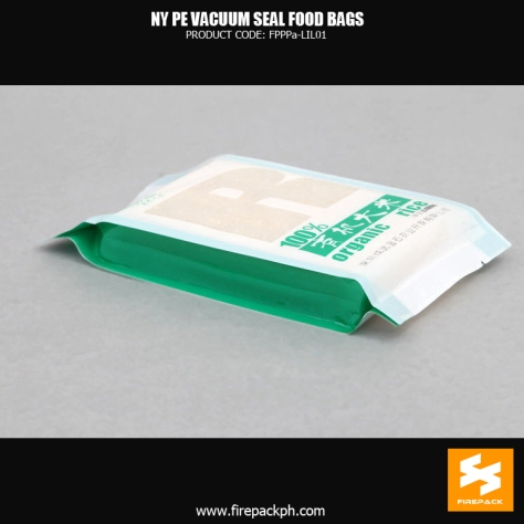 NY1PE material composite clear vacuum seal food storage bags Custom snack use supplier mkaer