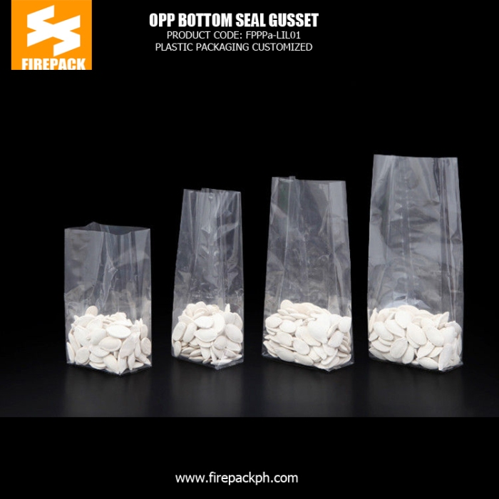 OPP Clear Square Bottom Packaging Bags For Cooking Spices - Dried Fruit firepack