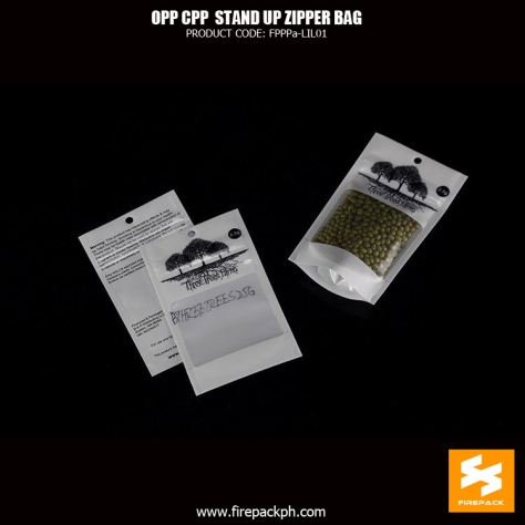 opp-cpp Compound Dry Food Plastic Zipper stand up pouch bags for Nuts Candy Snack plastic supplier