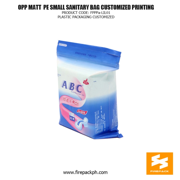 OPP MATT -PE Small Sanitary Towel Stand Up Bag With Zipper korea supplier