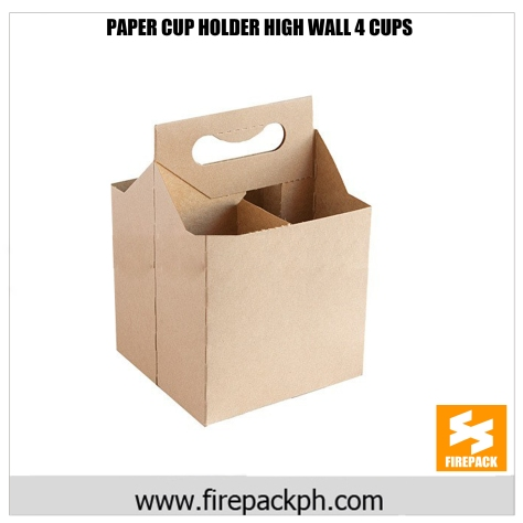 paper cup 4 cups holder high wall firepack