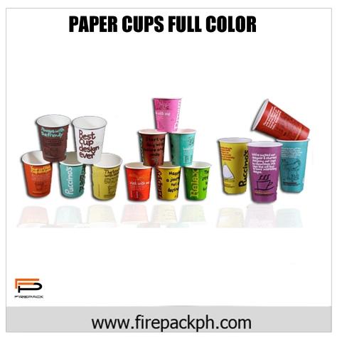 paper cups full color custom print