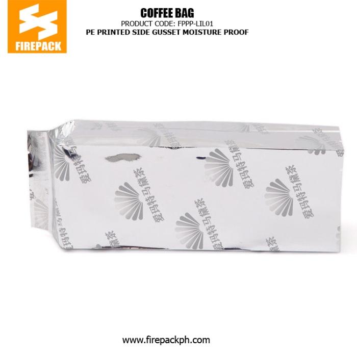 PE Printed Side Gusset Coffee Bag Packaging Heat Sealing Moisture Proof manila philippines
