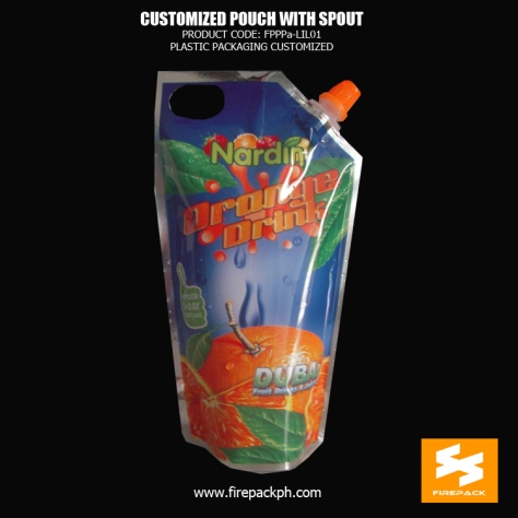 PET - AL - PE Custom Printed Stand Up Spout Pouch For Packing Juice supplier dubai