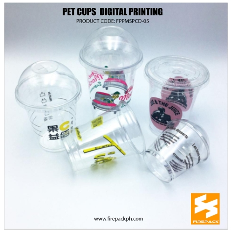 pet cups color printing