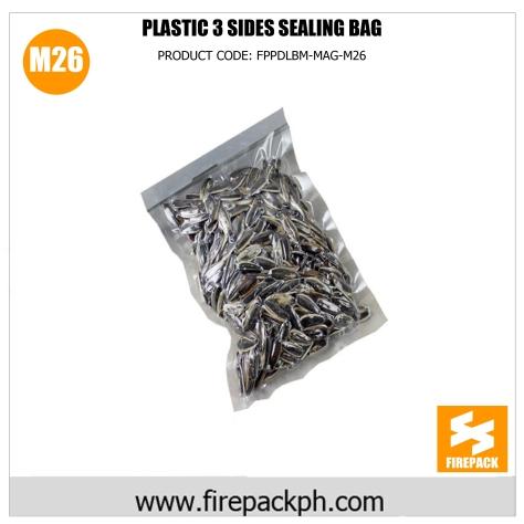 plastic 3 sides sealing bag m26