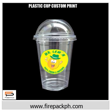 plastic cup 16oz dome lid customized firepack