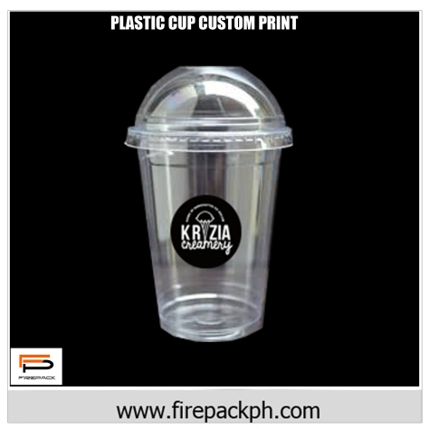 plastic cup 22oz dome lid customized firepack