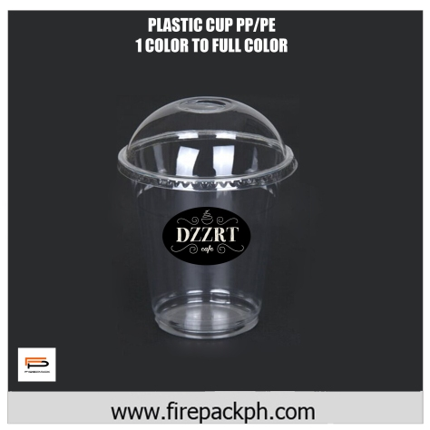 plastic cup witn dome lid 1 color