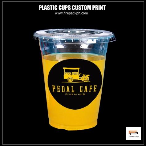 plastic cups flat lid pedal