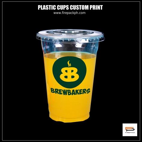 plastic cups flat lid