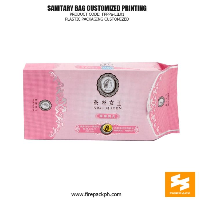 Plastic Ladies Sanitary Napkin Bags - Pouch With Open Label korea supplier plastic