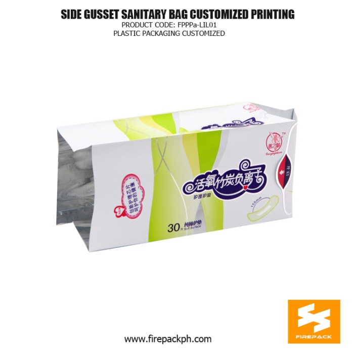 Plastic Side Gusset Sanitary Napkin Bags Heat Seal With Label japan supplier