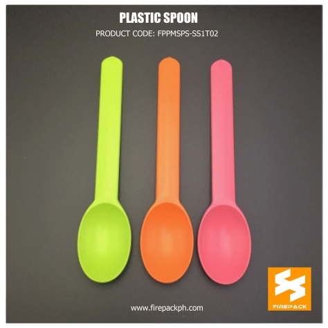 plastic spoon customized for ice cream supplier maker firepack