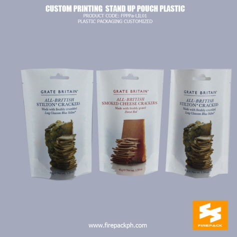 Plastic Stand Up Pouches Matt OPP PET PE For Packing Cookies manila supplier
