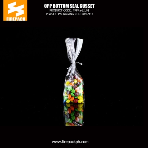 protein packaging clear opp food packaging pouch opp bag with custom printing firepack