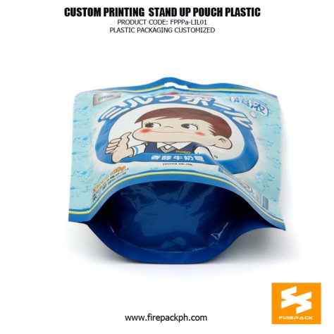 Recyclable PET PE Plastic Stand Up Pouches Bag For Candy firepack