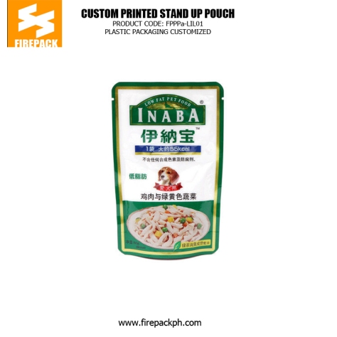 Recyclable Standing Pet Food Bags , Dog Food Packaging Bags manila supplier