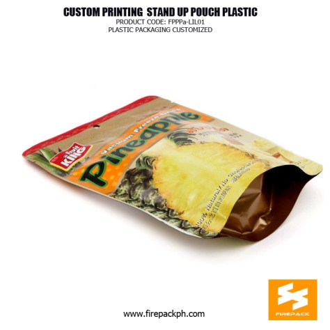 Recycled Colorful Stand Up Bags , Aluminium Foil Food Packaging Bags supplier manila