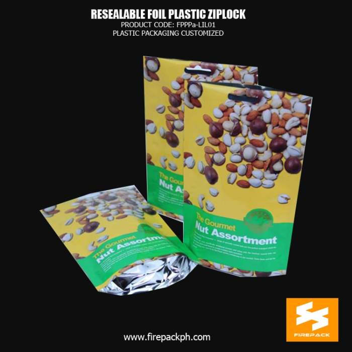 Resealable Foil Stand up Plastic Ziplock Bags Colored , Zip Lock Plastic Bags firepack 2