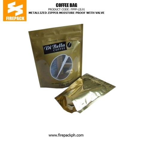 Self-Standing Coffee Packaging Bags Zipper Top Gravure Printing firepack manila quezon city