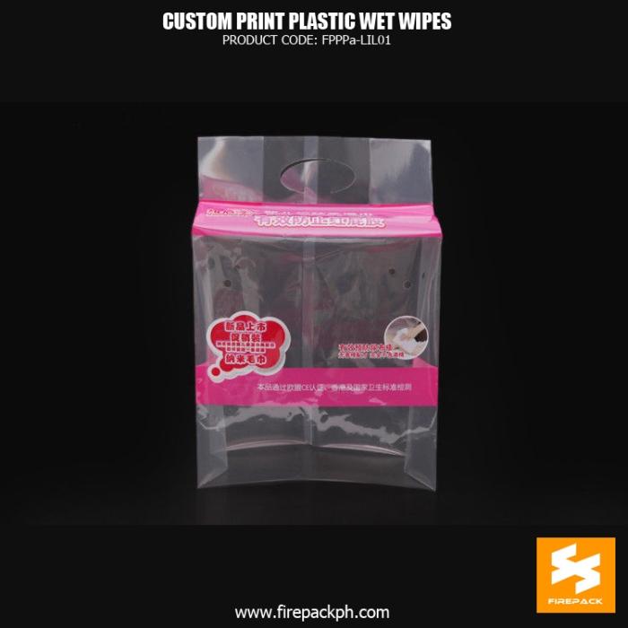 Side Gusset Printed Wet Wipes Packaging Bag , Heat Seal manila supplier